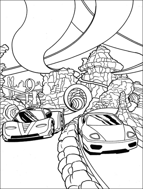 Hot Wheels Race Track Coloring Pages | Coloring Pages