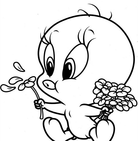Tweety Coloring Sheet