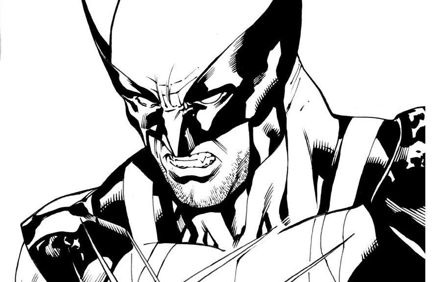 free coloring pages of wolverine - photo#22