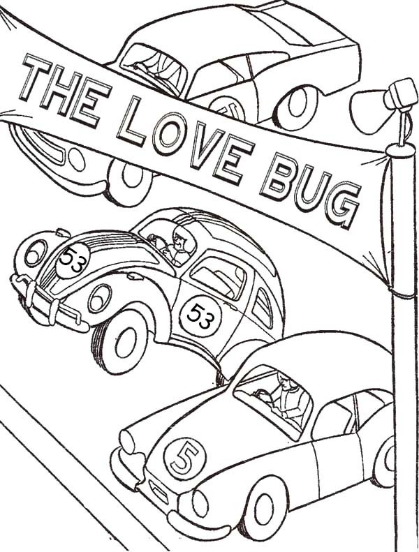 Herbie The Love Bug Coloring Sheets