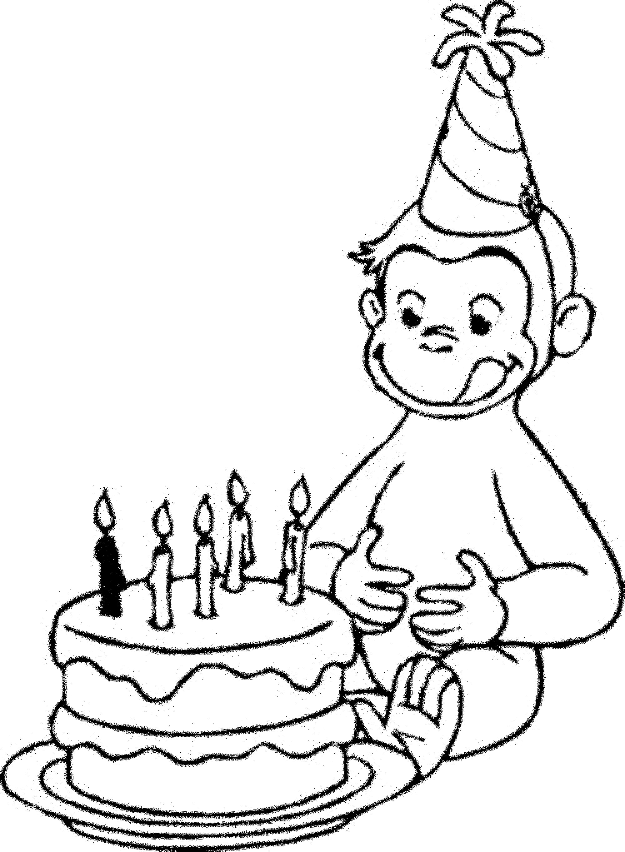 It's just a graphic of Satisfactory Happy Brithday Coloring Pages